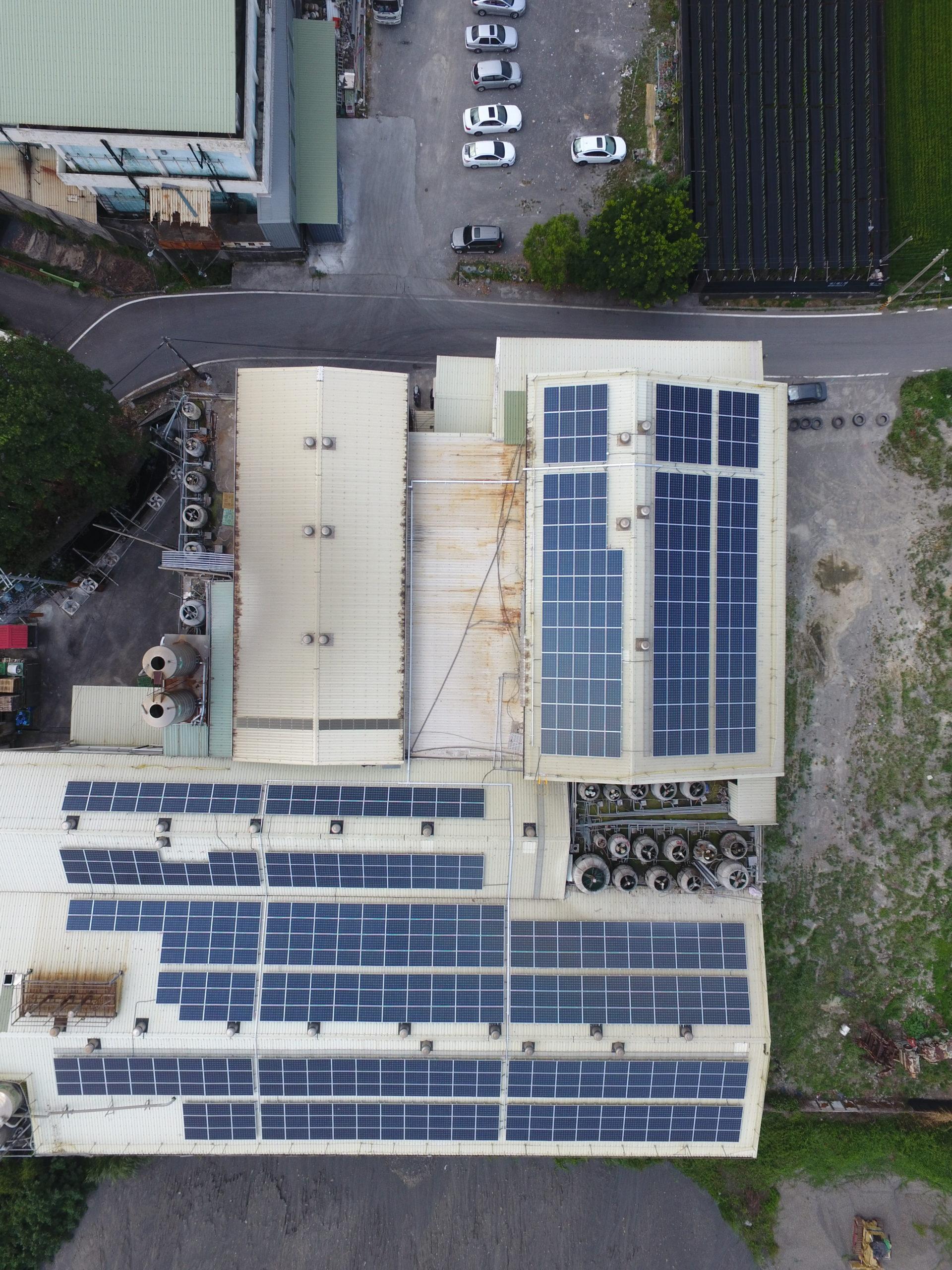 太陽能發電 太陽能板安裝 屏東縣萬丹鄉廠房 166.085KW
