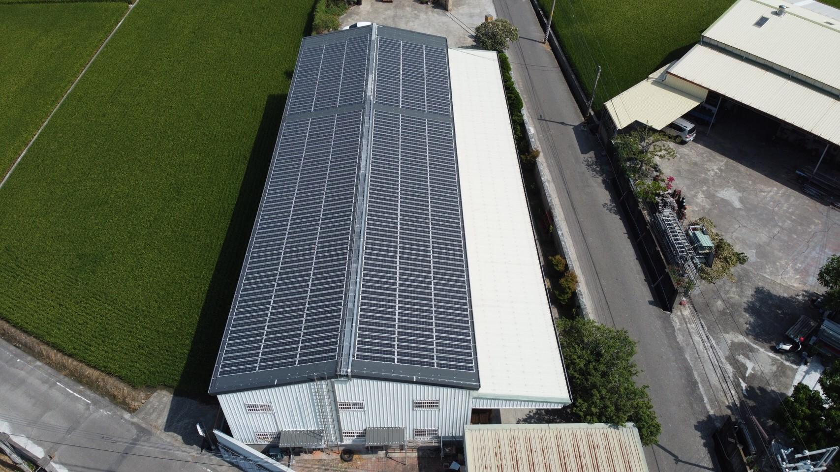 太陽能發電|太陽能板安裝|南投縣草屯鎮廠房61.087KW
