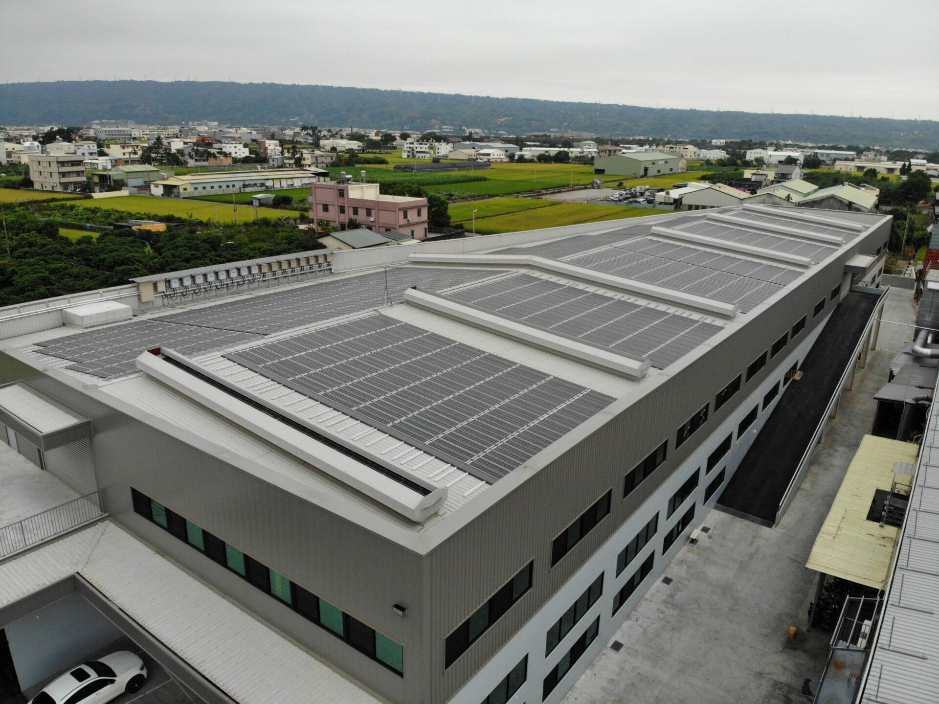 太陽能發電|太陽能板安裝|南投縣草屯鎮廠房280.67KW